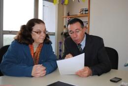 Valdeci com a secretária estadual da Saúde, Sandra Fagundes.