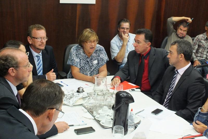 Dirigente do CPERS participou da reunião da bancada do PT nesta terça