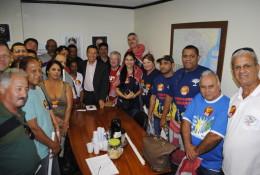 Membros da Federação da Alimentação estiveram mobilizados com o deputado, em novembro do ano passado