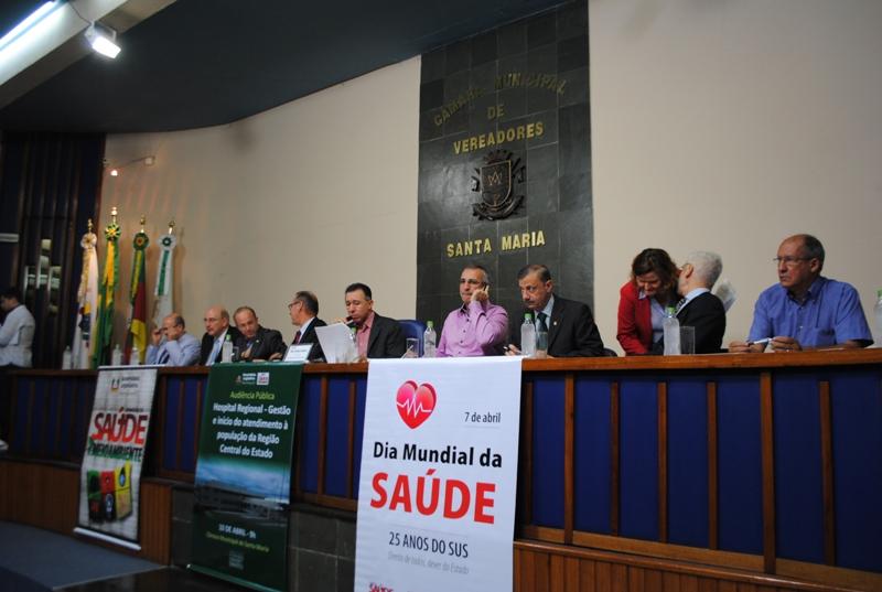 Audiência ocorreu na Câmara Municipal de Santa Maria