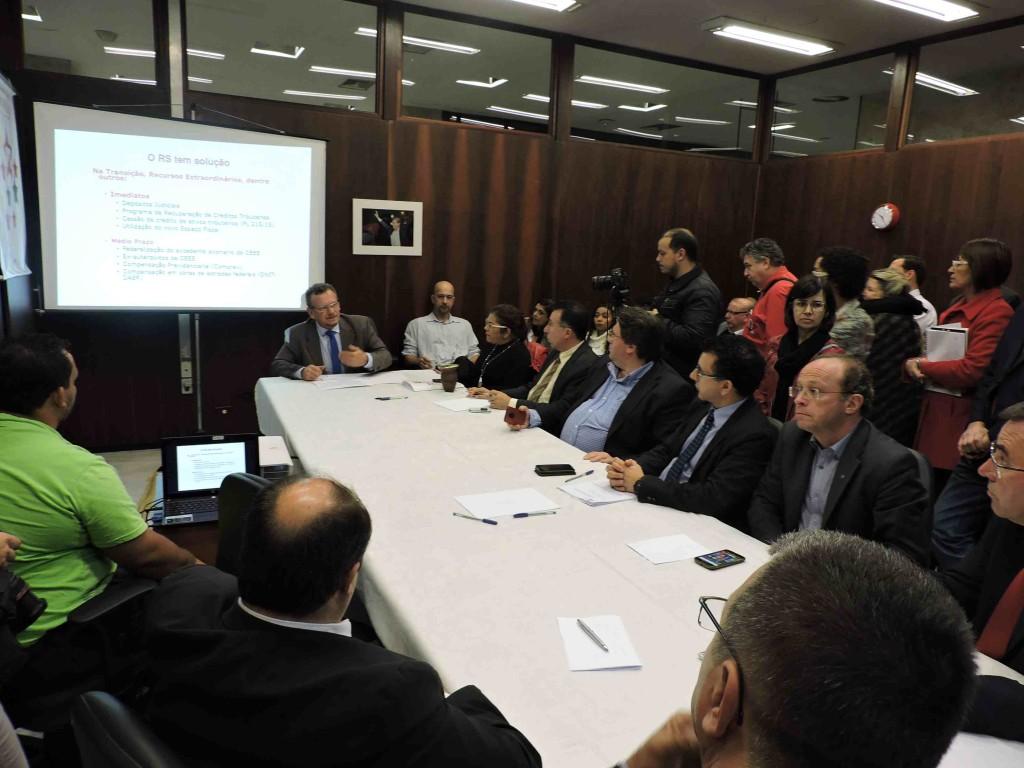 Deputados estaduais do PT durante a entrevista coletiva