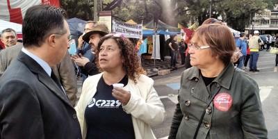 Valdeci com dirigentes do CPERS em Porto Alegre