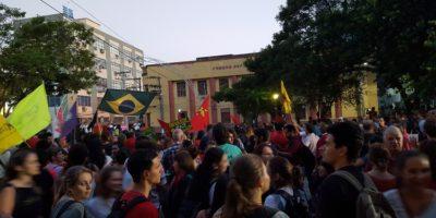Manifestação pela democracia em Santa Maria no dia 31 de março passado