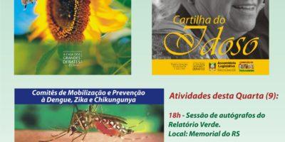 Publicações da Comissão de Saúde  vão ser lançadas na Feira do Livro de Porto Alegre